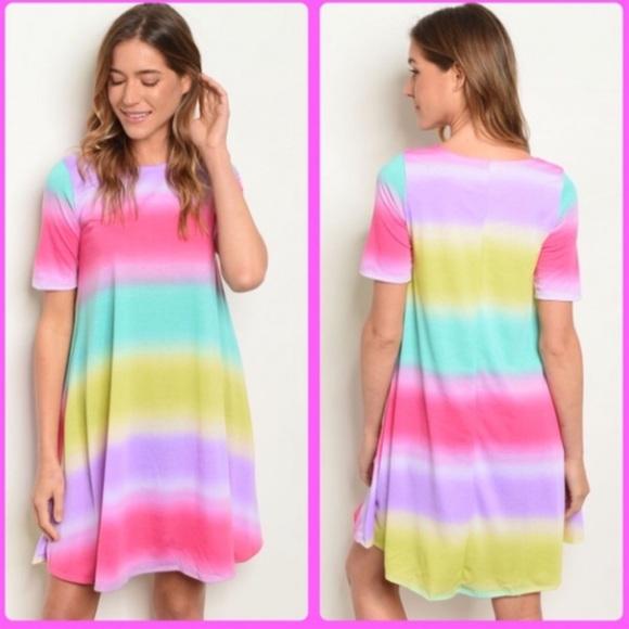 Colorful Tie Dye Dress